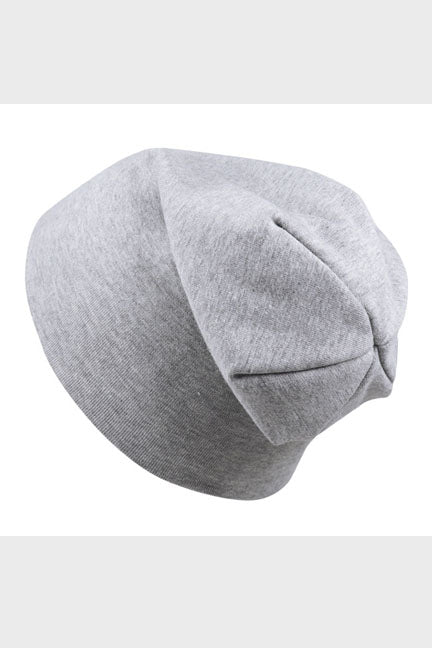 cotton slouch beanie || gray