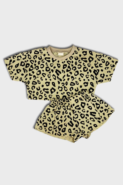 leopard 2 pc set || tan