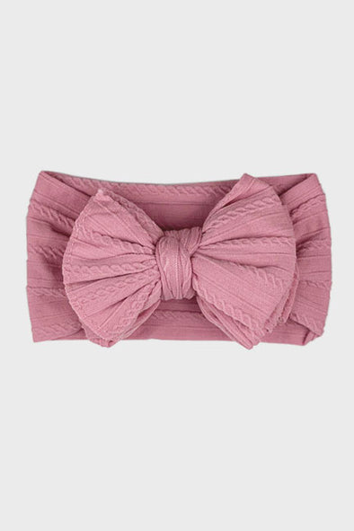 big bow knotted headband || wild rose