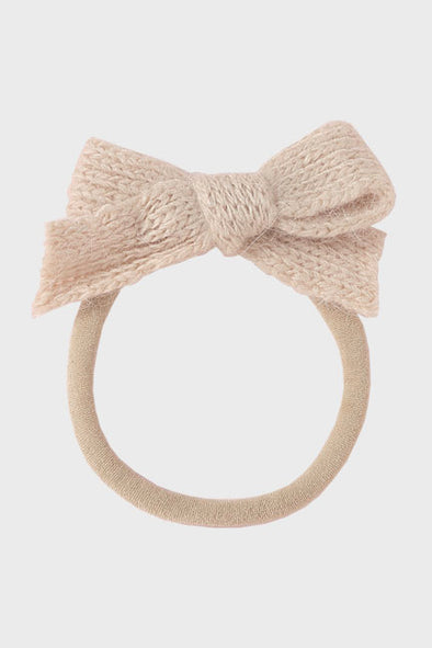 wool bow headband || biscotti
