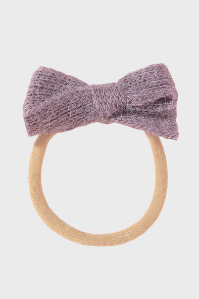 wool bow headband || petunia