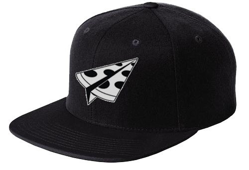 Paper Pizza Co. Paper Plane Snapback Hat (black)