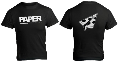 Paper Pizza Co. Paper Plane Short Sleeve T-shirt (black)