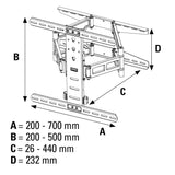 Hama Ultraslim FULLMOTION TV Wall Bracket, 5 stars, 37-70 In