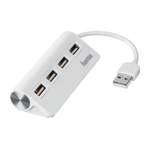 USB 2.0 Hub 1:4, bus powered, White