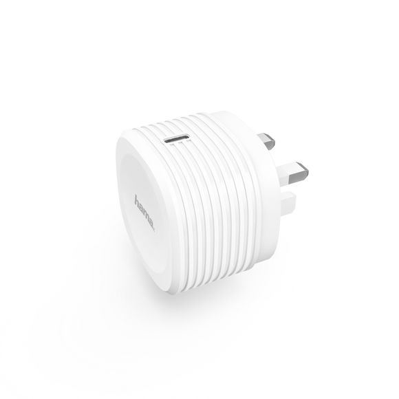 Hama USB Charging Adaptor, 20 Watt, UK Plug,