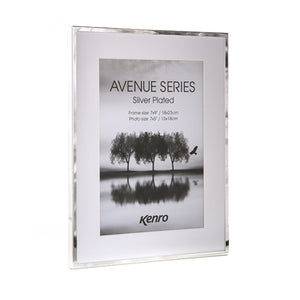 "Kenro Avenue series silver plated frame 6x4"" / 10x15cm"