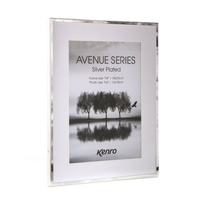 "Kenro Avenue series silver plated frame 7x5"" / 13x18cm"
