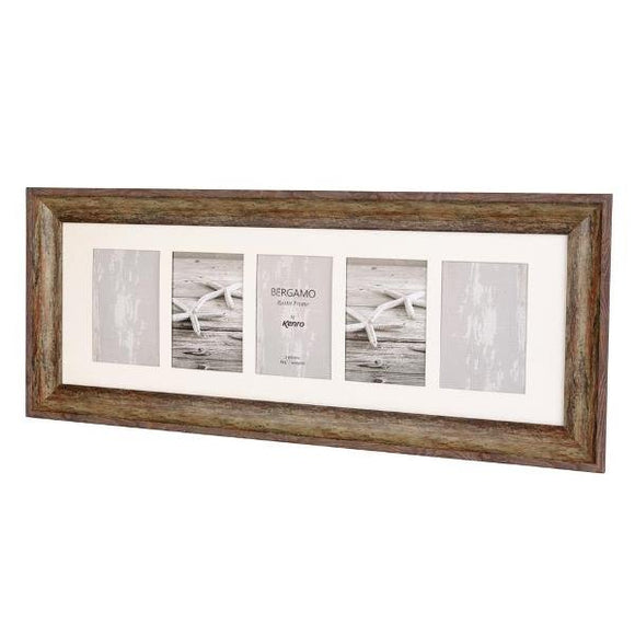 Kenro Bergamo Rustic Brown Frame 5 photos 6x4