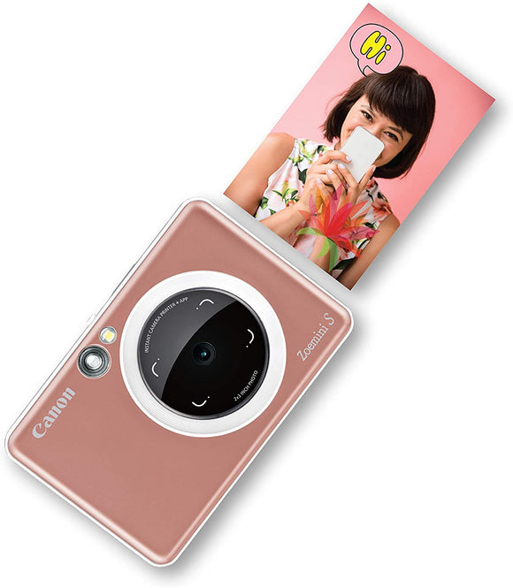 Canon Zoemini S Instant Camera & Photo Printer (Rose Gold)
