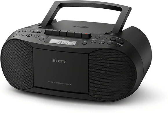 Sony CFDS70B Classic CD and Tape Boombox with Radio - Black