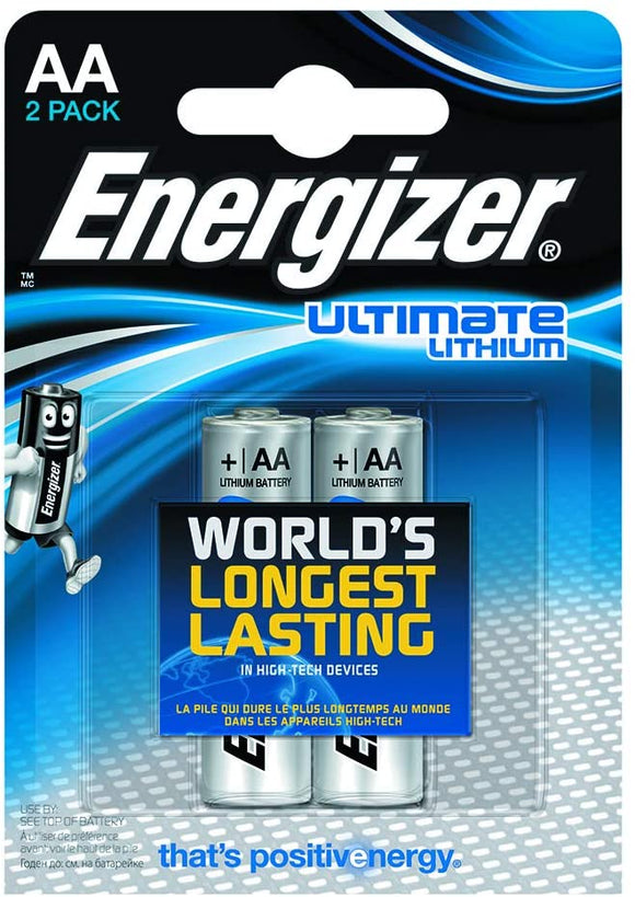 Energizer Lithium AA 2 Pack