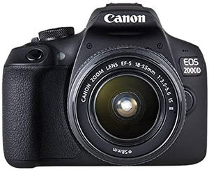 Canon EOS 2000D SLR Black Camera inc EF-S 18-55MM IS II Lens