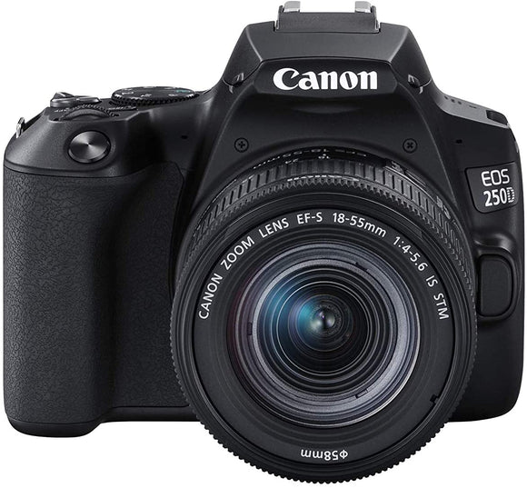 Canon EOS 250D 18-55 IS STM Lens 24.1MP 3.0LCD 4K WiFi Black