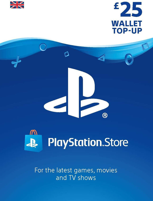 Playstation PSN Card 25 GBP Wallet Top Up Card - UK account