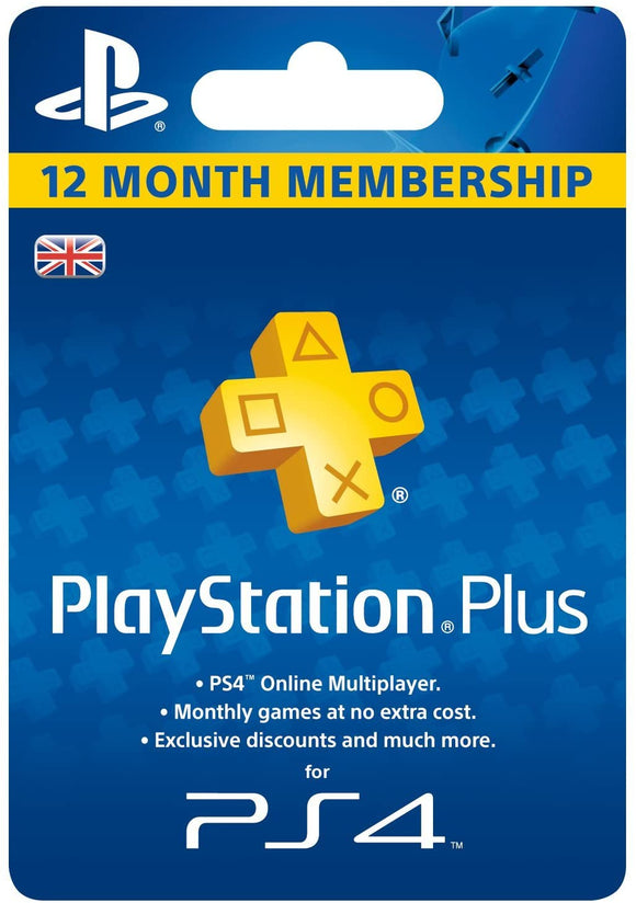 Sony PlayStation Plus 12 Month Membership - UK Account