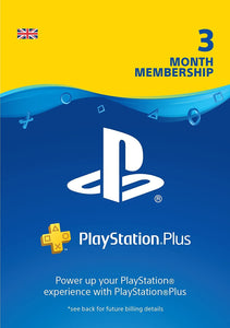 Playstation PlayStation Plus: 3 Month Membership - UK Account