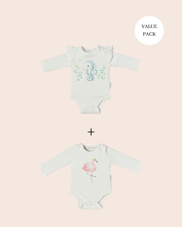 Baby Girl Bodysuits Value Two Pack