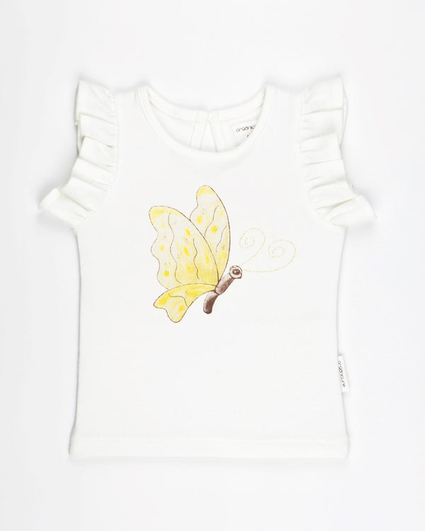Organic cotton baby clothes. Baby girls T-Shirt.  GOTS certified organic clothing for toddler girls.