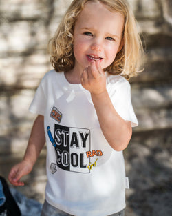 Organic Cotton Stay Cool T-Shirt-Natural White