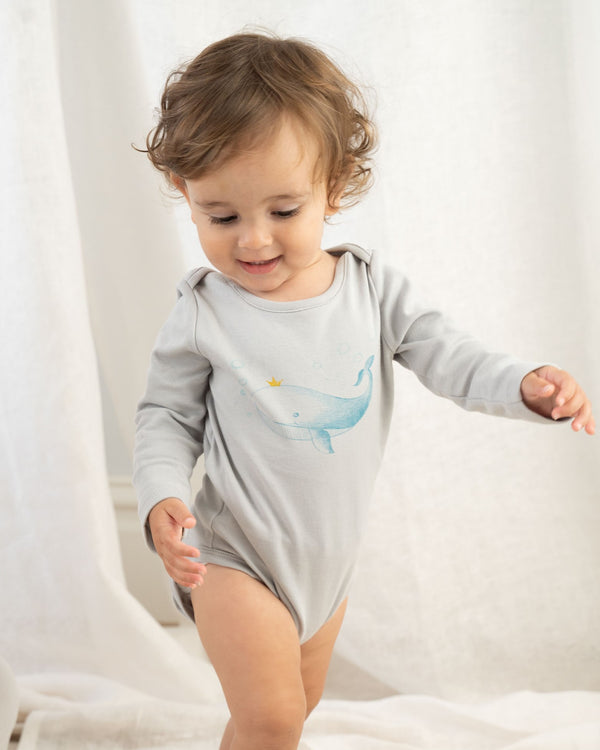 Organic Whale Long Sleeve Bodysuit