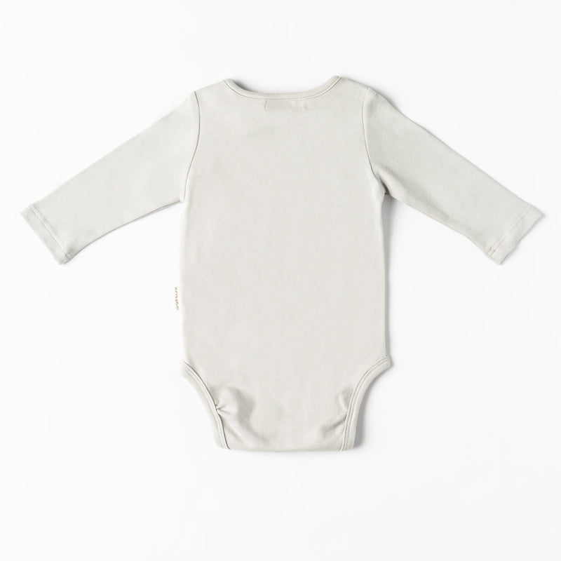 Organic Cotton Dolphin Bodysuit - Grey