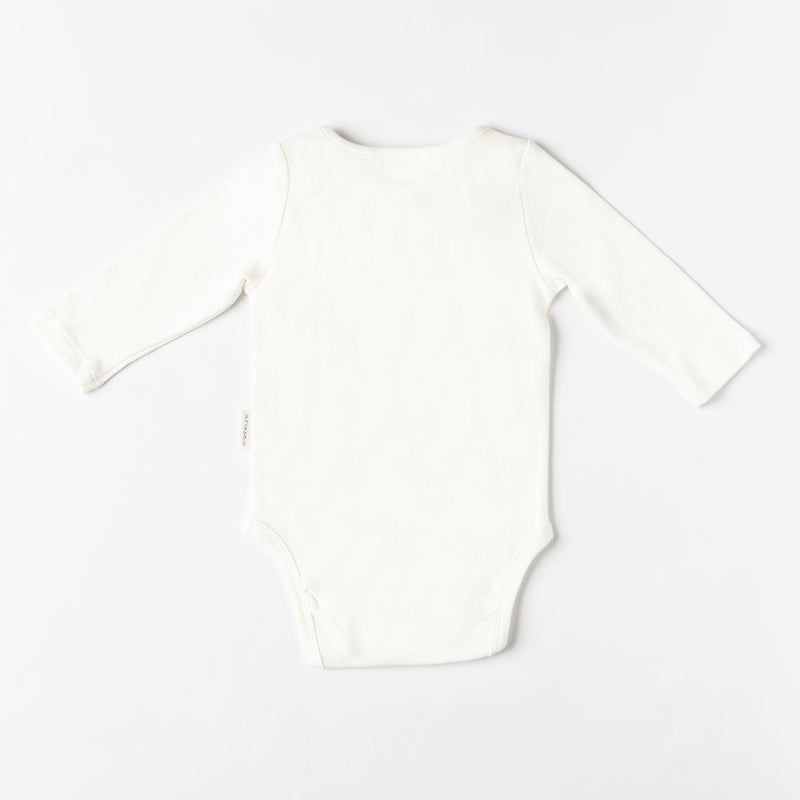 Organic Cotton Dolphin Bodysuit - Natural White