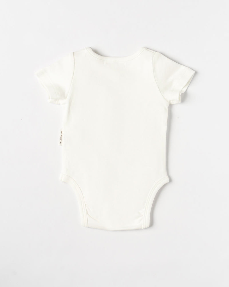 Organic Cotton Pineapple Bodysuit- Natural White