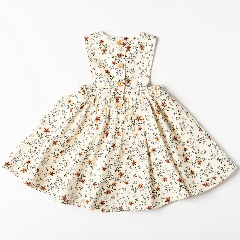 Organic Cotton Isabella Floral Pinny Dress