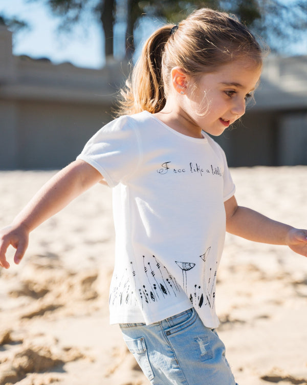 Free Like A Little Bird Organic Cotton A-Line T-shirt