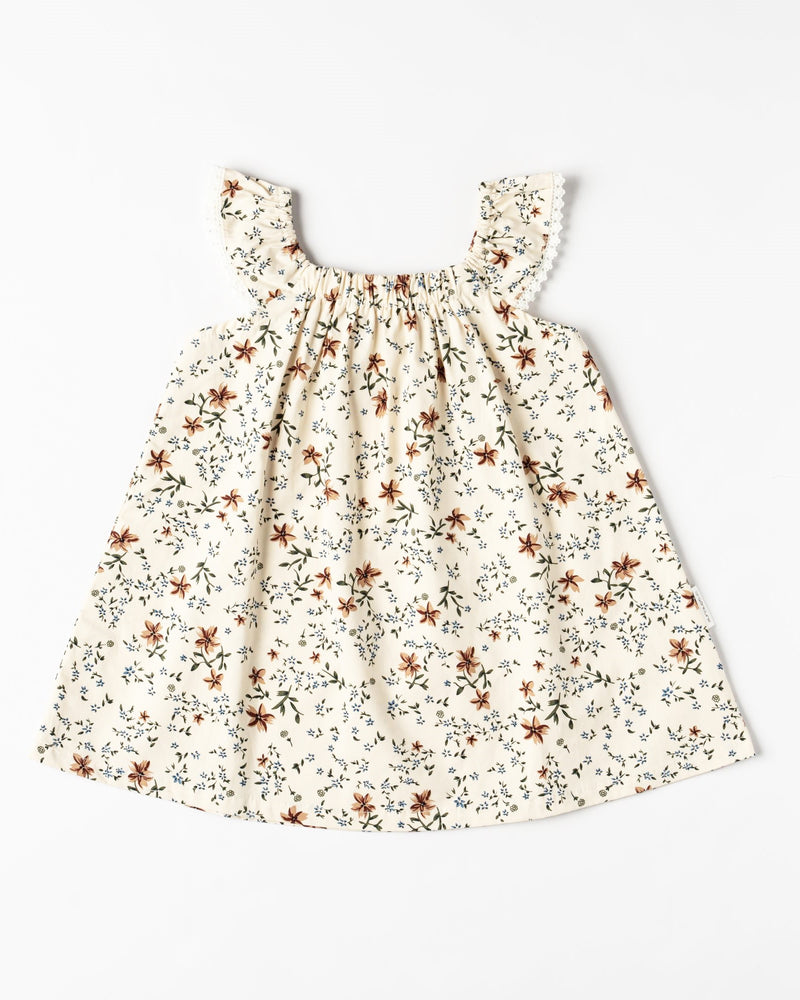 Organic Cotton A-Line Floral Dress