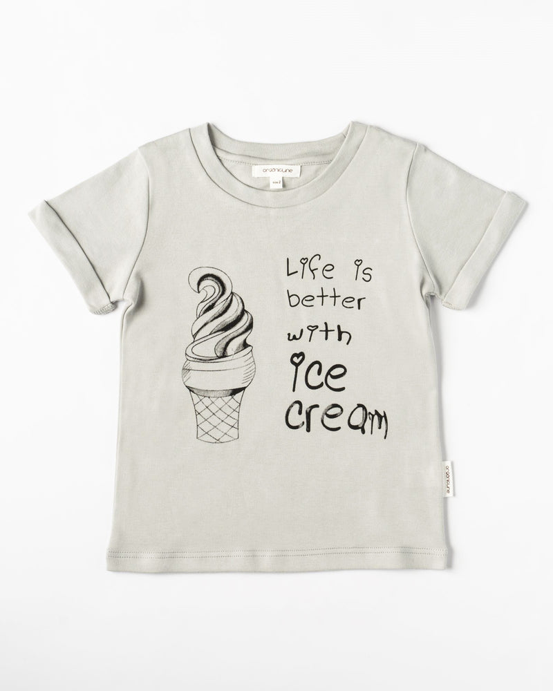 Organicline Boys Ice Cream T-shirt