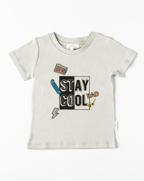 Organicline Toddler boy Stay Cool T-Shirt - Silver Grey