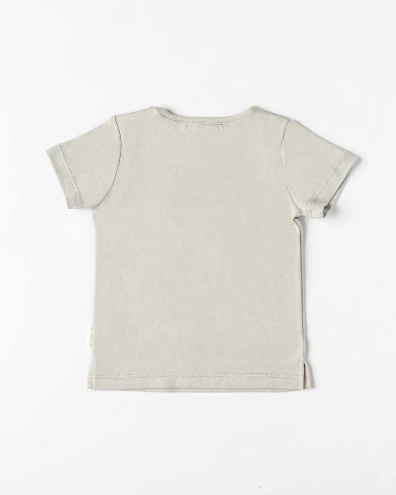 Organicline Baby boy Dinosaur T-shirt-Sliver grey back view