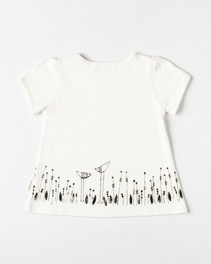 Organicline Girls Free Like A Little Bird T-shirt -back view