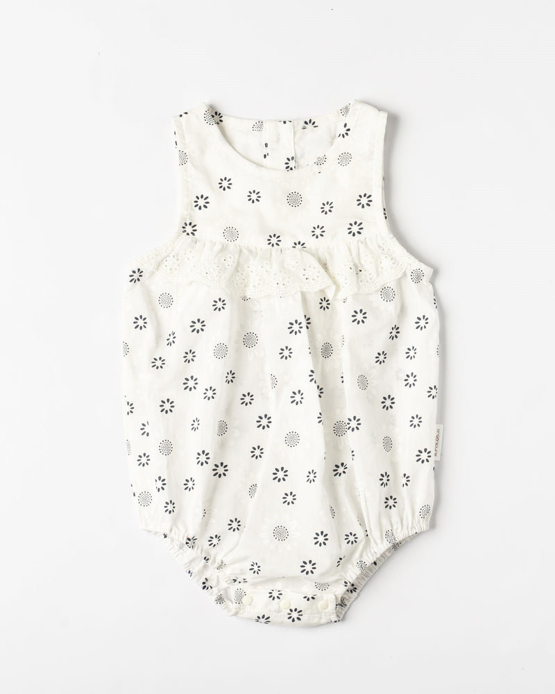 Organicline Sweetheart baby girl romper-front view