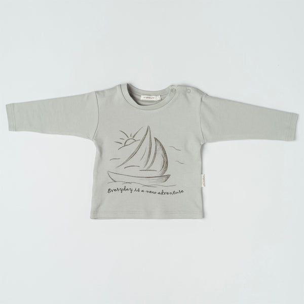 Organic Sailboat Long Sleeve Tee