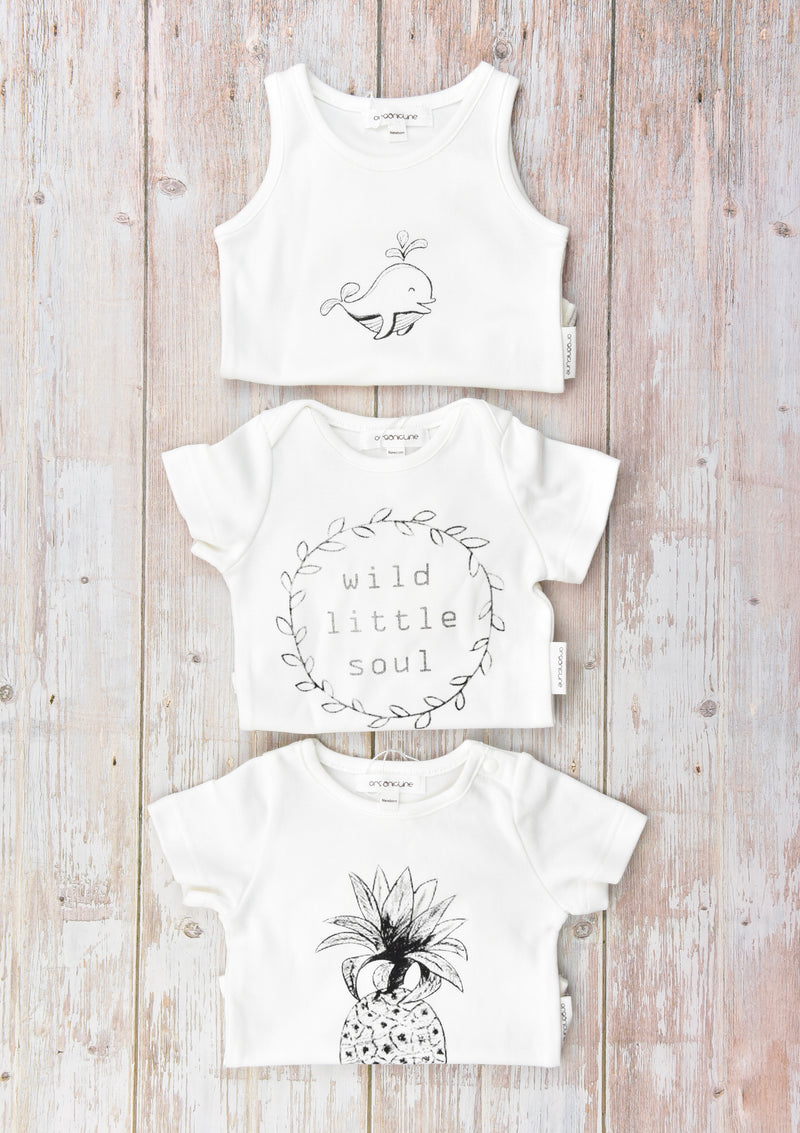 Organicline bodysuit mega value pack. 100% GOTS certified organic cotton.