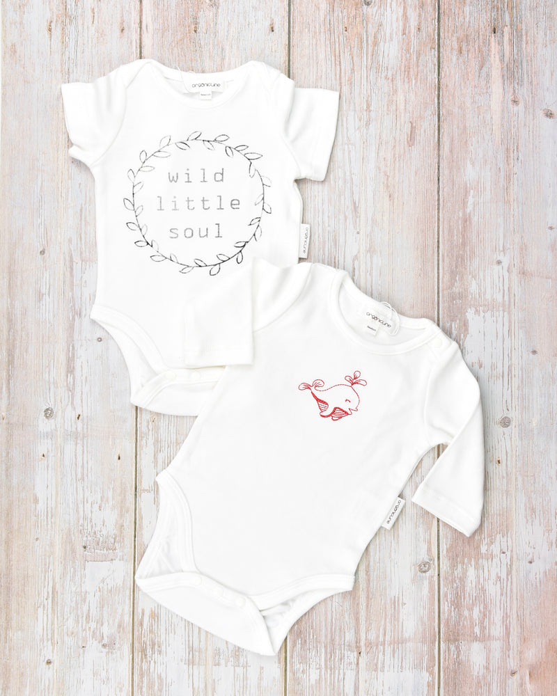 Organicline bodysuit value pack. 100% GOTS certified organic cotton.
