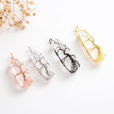 Clear Quartz Raw Crystal Pendant Wire Netted, PND6147XX
