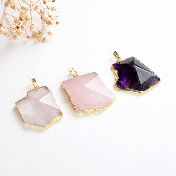 Gemstone Gold Plated Pendant, PND6158XX