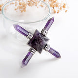 Amethyst Pyramid Energy Generator, 4 Crystal Points, ERG0103XX