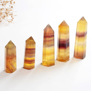 Yellow Fluorite Crystal Points, PNT0002YF