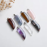 Gemstone Horn Shape Pendants, PND4113XX