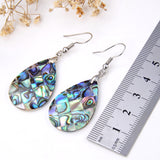 Abalone Paua Mosaic Teardrop Pair Of Earrings, ERN1001AB