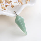 Gemstone Angular Double Cone Long Tip Pendants Or Pendulums, PND4116XX