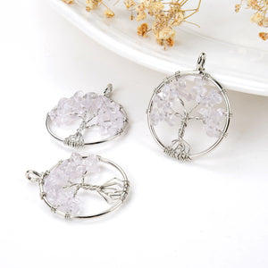 Clear Quartz Wire Tree Pendant, Small Size, Pnd6073