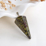 Gemstone Angular Cone Pendants Or Pendulums, Medium Size, PND4124XX