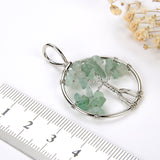 Green Aventurine Wire Tree Pendant, Small Size, Pnd6072