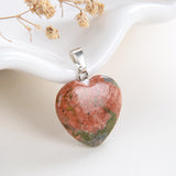 Gemstone Heart Pendants, Small Size, PND4125XX